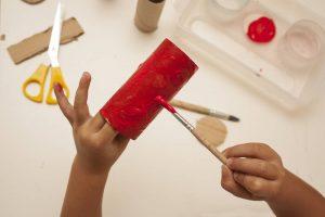 Arte con rollos de papel higiénico
